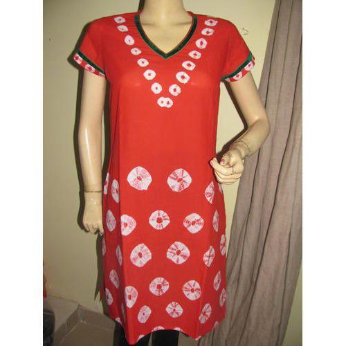 Cotton Bandhani Kurti