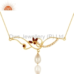 Pearl Gemstone 925 Silver Necklaces
