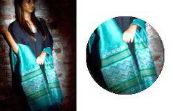 Sea Green Chanderi Silk Dupatta