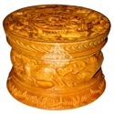 Wooden Carving Powder Box