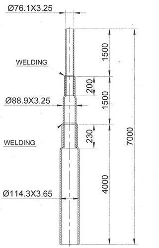 Street Light Pole Street Light Pole 7 Mtr Manufacturer