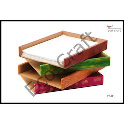 Leather Handmade Paper Tray
