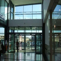 Automatic Biparting Glass Door