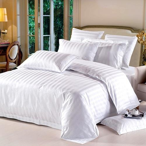 hotel bedsheets linens white cotton flat bed sheets in 300 tc manufacturer from new delhi. Black Bedroom Furniture Sets. Home Design Ideas