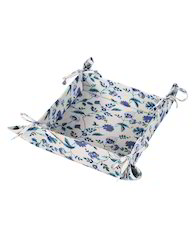 Food Save Blue Leaves Printed Square Bread Basket