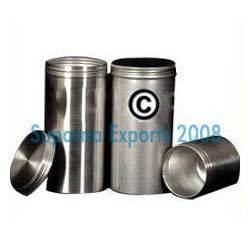 Brushed Aluminum Canisters