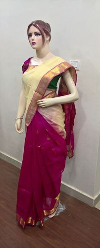 Silk Cotton Partly Pallu Sarees