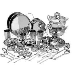 stainless steel bartan sets