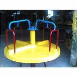 Circular Yellow Merry Go Round