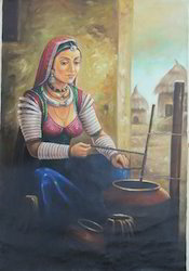 Indian Village Painting