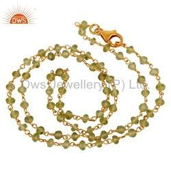 Peridot Gemstone Beads Necklace