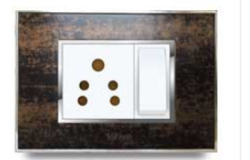 Glass Plate Real Wooden Electrical Switch