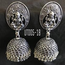 Goddess Jhumkhas Oxidized