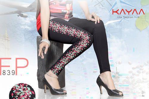 Exclusive Side Printed Black Leggings
