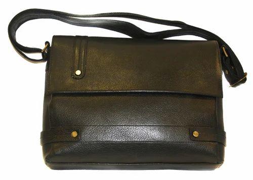 Leather Wallet - Leather Sling Bag In Black Color Ideal For Men and ... 8c592374efd20