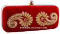 Gorgeous Red Fabric New Clutch Purse
