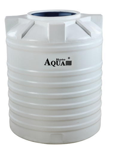 Three Layer White Cylindrical Water Storage Tanks