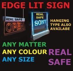 Edge Lit Sign