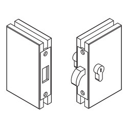 Hook Lock For Glass Sliding Glass To Glass With Strike Box
