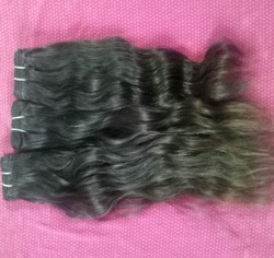 Temple Virgin Human Hair For Women Machine Weft