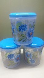 Plastic Container with foil printed