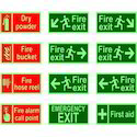 Photoluminescent Safety Sign Boards