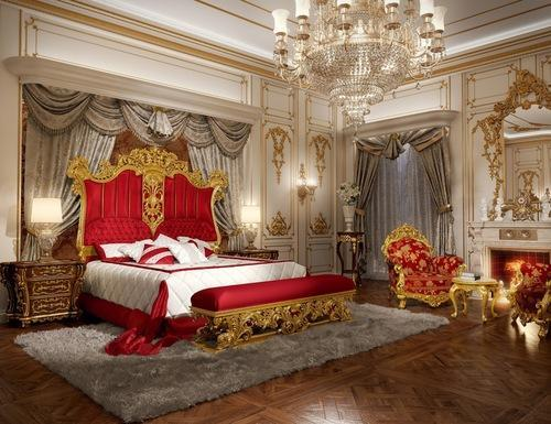Gold Mounted Royal Bed