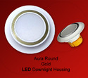 Round Aura Gold LED Downlight Housing