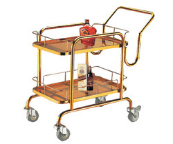 Rose Gold Finished Bar Trolley