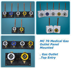 MC 70 Medical Gas Outlet - Panel Mounted