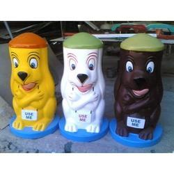 FRP Cartoon Dustbin