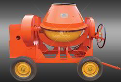 Concrete Mixer Machine with Four Tyre Wheels - Global 10/7