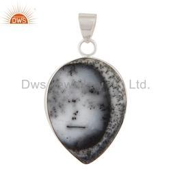Dendritic Opal 925 Silver Pendant