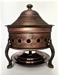 Smokey Finished Copper Hammered Hawa Mahal Chafer