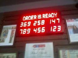 Electronic Token Number Display