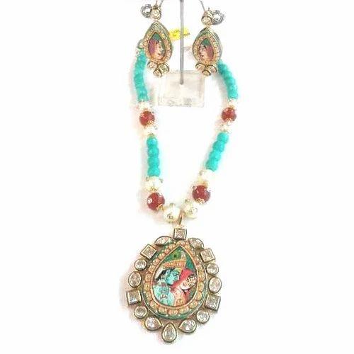Radha krishna pendant set manufacturer from jaipur radha krishna pendant set aloadofball Gallery