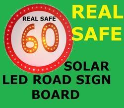 Solar LED Road Sign Board