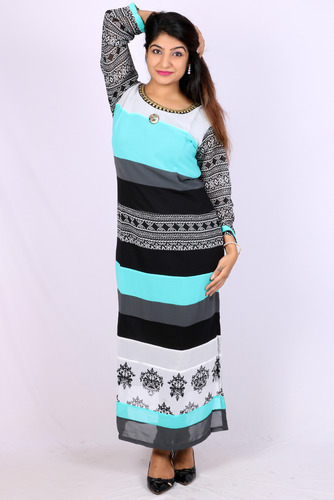 Multi Cotton Printed Designer Kurti