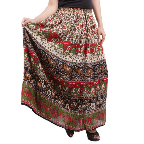 Bagru Printed Long Skirts