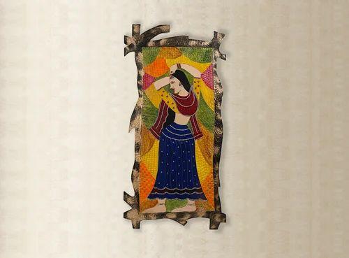 Handmade Paintings Rajasthani Lady Gurjari Handmade