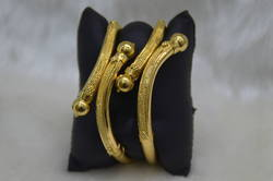 1 Gram Gold Plated 2 Pc Fancy Bangles