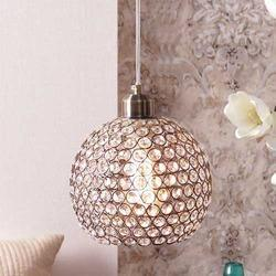Dilmond Gold Finish Crystal Pendant Lamp