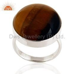Natural Gemstone 925 Silver Men's Rings