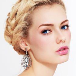 Pave Diamond 18k Gold Earring Fine Jewelry