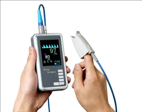 Handheld Pulse Oximeter with AC Charger