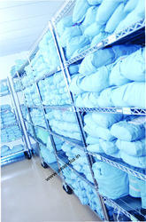 Colored Hospital Bed Sheet Poly Cotton
