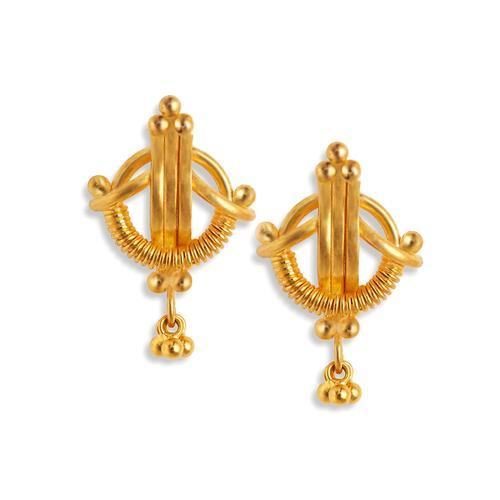 Tanishq Yellow Gold Stud Earrings