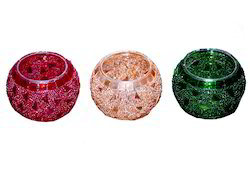 Mosaic Glass T Lite Candle Holders