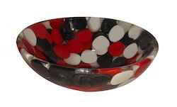 Prayosha 12inch Red Black White Washbasin