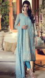 Sky Blue Party Wear Suit